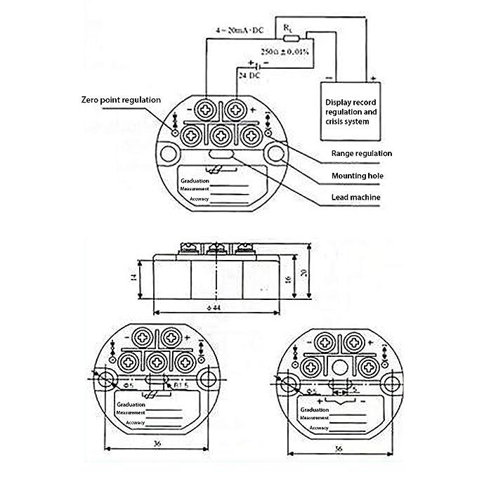 Amazon Com Icstation Pt100 Rtd Sbw Temperature Sensor Transmitter
