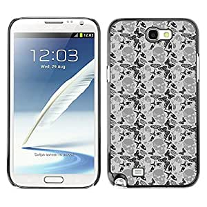 iKiki-Tech Estuche rígido para Samsung Galaxy Note 2 N7100 - Dark Skull