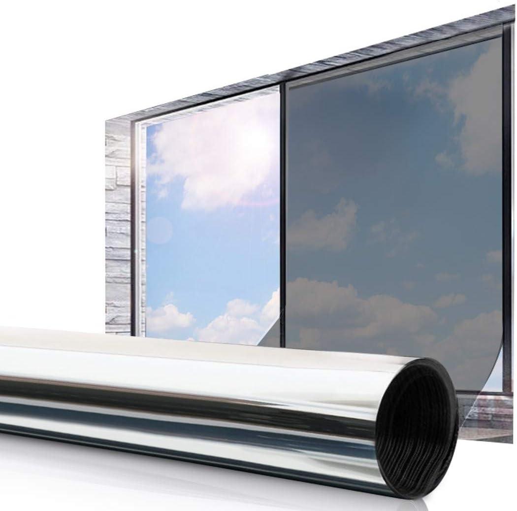 Essort Vinilo Película Ventana 45 x 200 cm Solar Adhesiva Lámina Privacidad Anti 92% UV Control de Calor para Hogar y Oficina