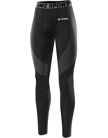 AMZSPORT Herren Fitness Hose Pro Cool Compression Tights Funktionswäsche  Pants 2d61e28814