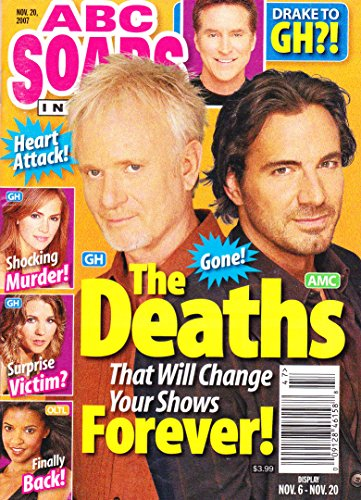 Anthony Geary, Thorsten Kaye, Amanda Baker, Super Soap Weekend - November 20, 2007 ABC Soaps in Depth Magazine [SOAP OPERA]