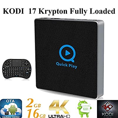 KIKI-TV-Streaming-Player Android 6.0 Marshmallow Fully Loaded Unlocked Rooted XBMC KODI 17 S912 Octa TV BOX [OTA Updater 2G+16G/4K/11AC/Ultra HD/Wireless Keyboard]