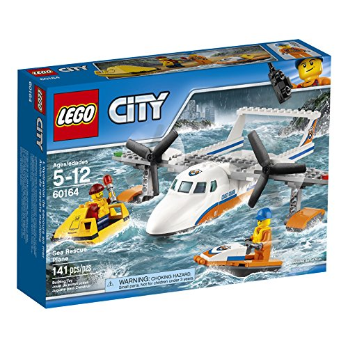 (LEGO City Coast Guard Sea Rescue Plane 60164 Building Kit (141 Piece))