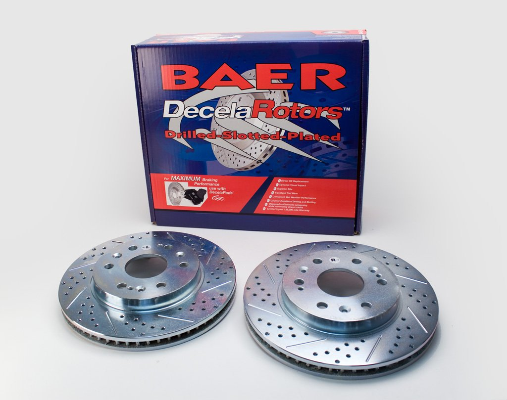 BAER 55097-020 Sport Rotors Slotted Drilled Zinc Plated Front Brake Rotor Set - Pair by Baer Brakes