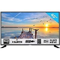 HKC 40F1N Téléviseur LED Full HD, Triple Tuner DVB-T2 / T/C / S2 / S, H.265 HEVC, CI+, Lecteur multimédia Via USB, Classe d'efficacité énergétique A