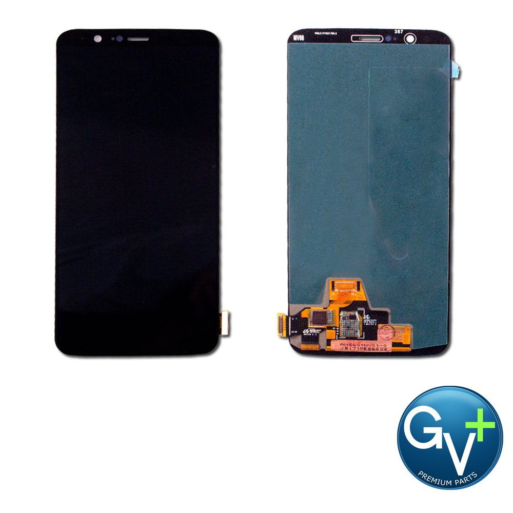 Group Vertical Replacement Screen AMOLED Digitizer Assembly Compatible with OnePlus 5T (Black) (A5010) (GV+ PerCompatible withmance)