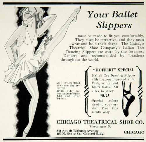 Ballet Costume Companies (1927 Ad Chicago Theatrical Shoe Ballet Slipper Dancer Costume Tutu Ballerina - Original Print Ad)
