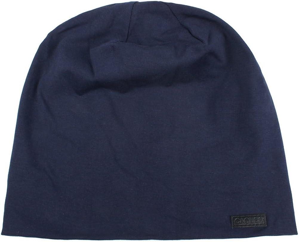 Longbeanie,Jersey Baumwolle elastisch Unisex Herren Damen M/ütze leicht und weich CACUSS Klassische Slouch Beanie M/ütze