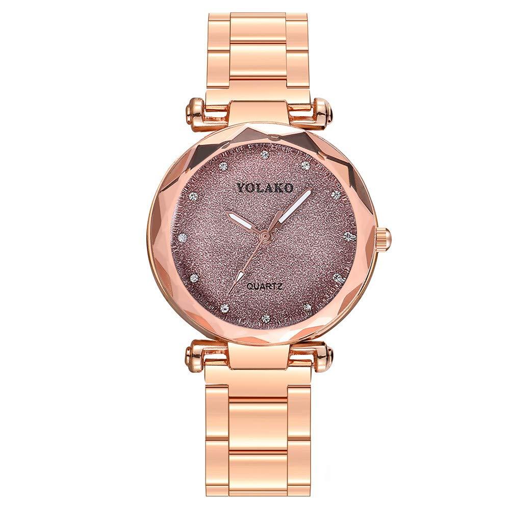 Amazon.com: Weiyun YOLAKO Casual Quartz Stainless Steel Band Newv Strap Watch Analog Wrist Watch: Cell Phones & Accessories