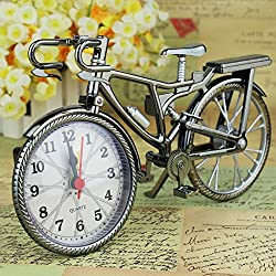 Blinkle Vintage Bicycle Clock Antique Crafts Retro Vintage Style Bicycle Desk for Home Decoration and Great Gift