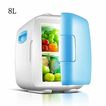 FJW Mini Nevera Enfriador Y Calentador Eléctrico 8L Alta Capacidad Refrigerador Del Refrigerador Del Coche AC