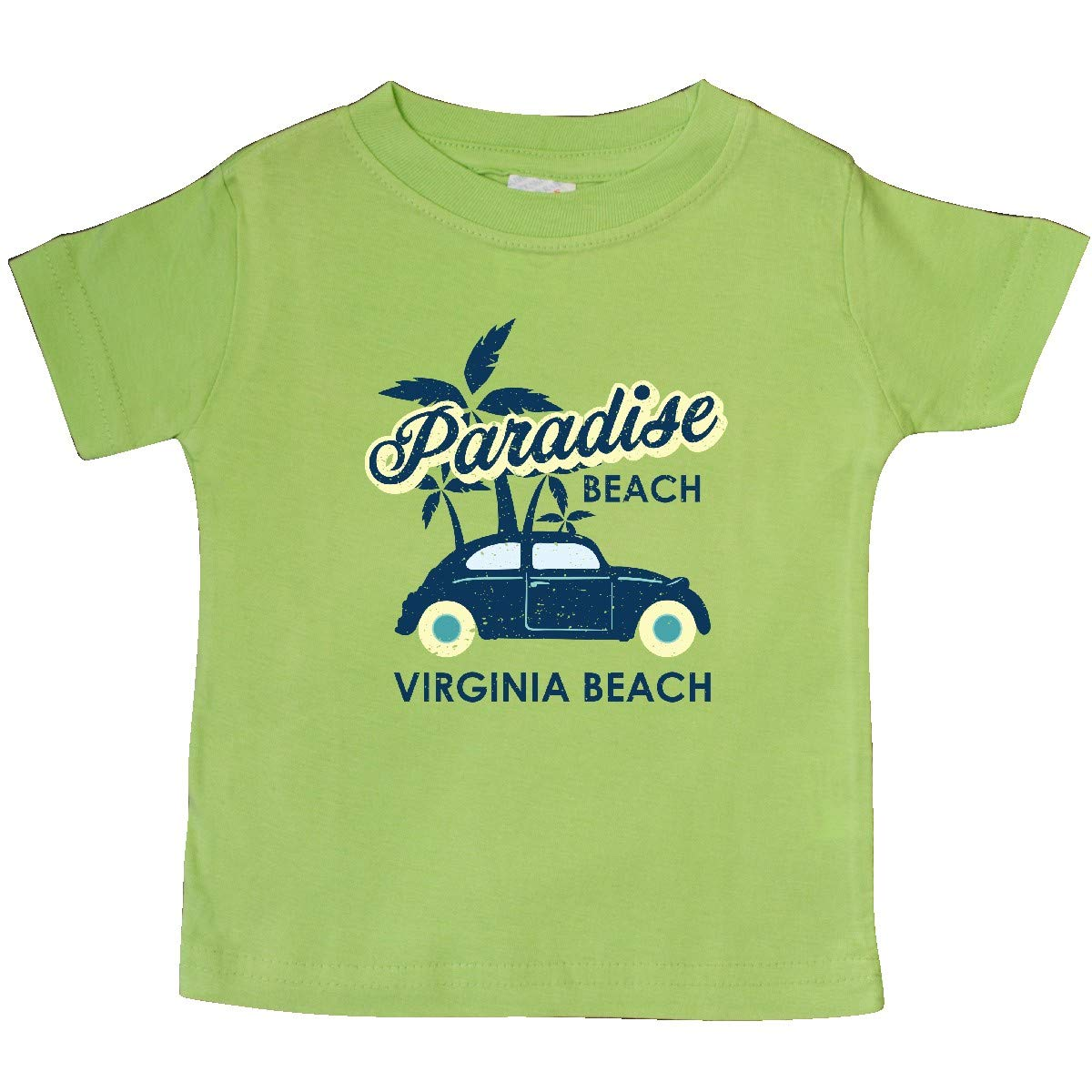 inktastic Paradise Beach in Virginia Beach with Palm Trees and Car Baby T-Shirt
