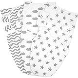 3pcs Baby Swaddling Blankets GLS-SB (Grey)
