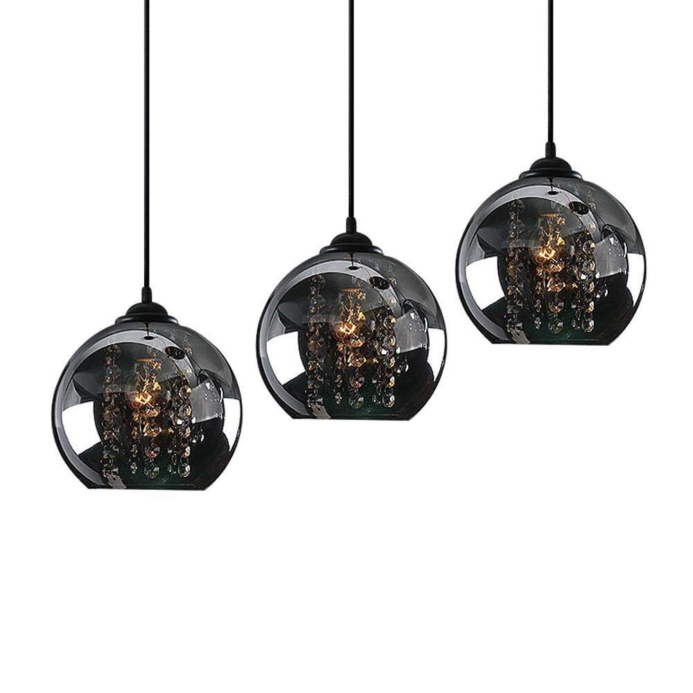 K9 Crystal Octagonal Perle Schwarz 3 Kopf runden Pendelleuchte, Glas, Hardware, D50CM, Schlafzimmer, Wohnzimmer