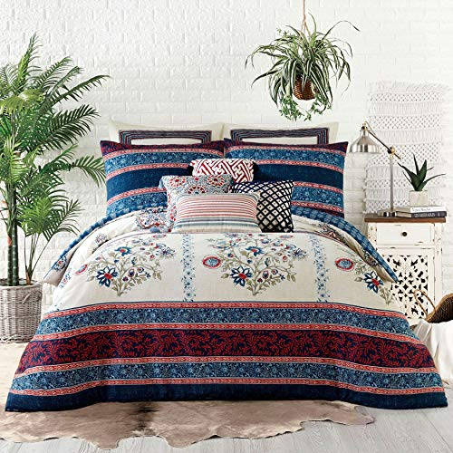 BrylaneHome Jessica Simpson Verbena 3-Pc. Comforter Set - Blue, Full/Queen