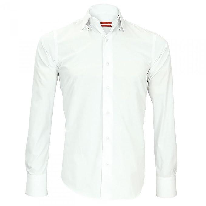 Andrew Mc Allister Camisa cuello Inglés John blanco blanco 44: Amazon.es: Ropa y accesorios