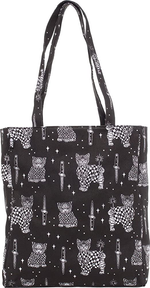 reputable site d43cc 5482b Amazon.com  Sourpuss Brand - Cholo Cat - Tote Bag Purse  Clothing