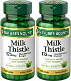 Nature's Bounty Milk Thistle 175mg, 200 Capsules (2 X 100 Count Bottles) For Sale