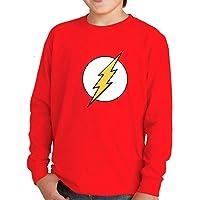 Camiseta Manga Larga de NIÑOS Flash Comic DC 002