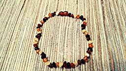 Raw Baltic Amber Teething Necklaces For Babies (Unisex) - Anti Flammatory, Drooling & Teething Pain Reduce Properties - Multi 4 Colors UNPOLISHED Natural Certificated with Highest Quality Guaranteed