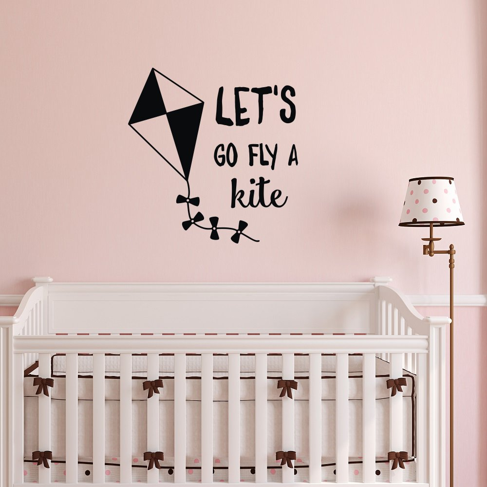 amazon com wall decal quote mary poppins lets go fly a kite wall amazon com wall decal quote mary poppins lets go fly a kite wall decals motivational quotes children wall decals nursery bedroom kids room playroom wall