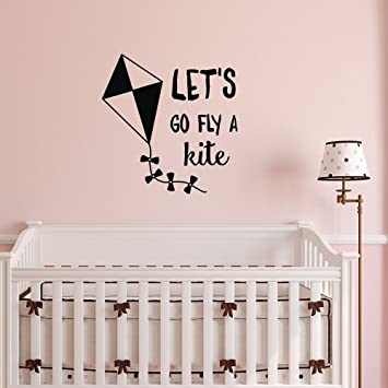 Wall Decal Quote Mary Poppins Lets Go Fly A Kite Wall Decals Motivational  Quotes, Children