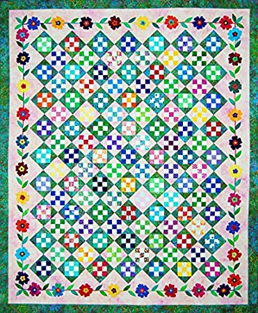 Amazon.com: Happy Stash Quilts Taffy Blossoms Quilt Pattern: Arts ... : quilt taffy - Adamdwight.com