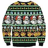 EnlaChic WomenS 3D Ugly Christmas Print Crew Neck Pullover Sweatshirt