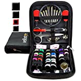 SEWING KIT - Tackle Any Emergency Clothing Repairs w/This Highly Rated Mini Mending Sew Storage Set for Kids & Adults | Small, Basic, Beginner Travel Kits w/Thread & Needles Supplies & Accessories