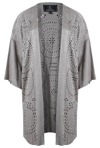 Rino & Pelle - Chaqueta - Kimono - para Mujer Plateado ...