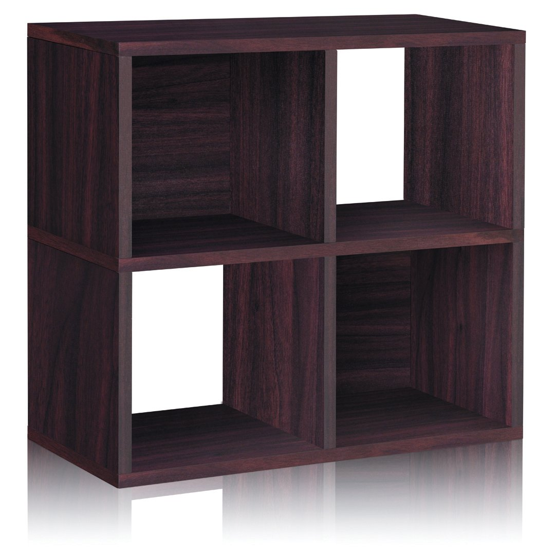 Amazon.com: Way Basics Eco 4 Cubby Bookcase, Stackable Organizer And Storage  Shelf, Espresso (made From Sustainable Non Toxic ZBoard Paperboard):  Kitchen U0026 ...