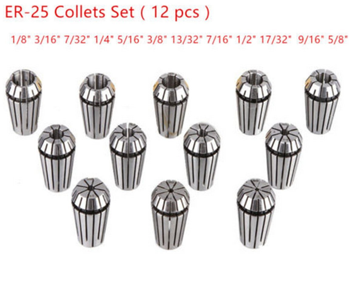 ER25 2mm-16mm Spring Collet For CNC Milling Machine Engraving Lathe Tools
