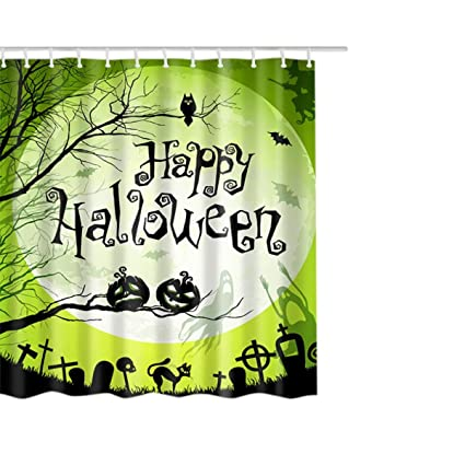 Image Unavailable Not Available For Color KESEE Clearance Halloween Christmas Shower Curtain
