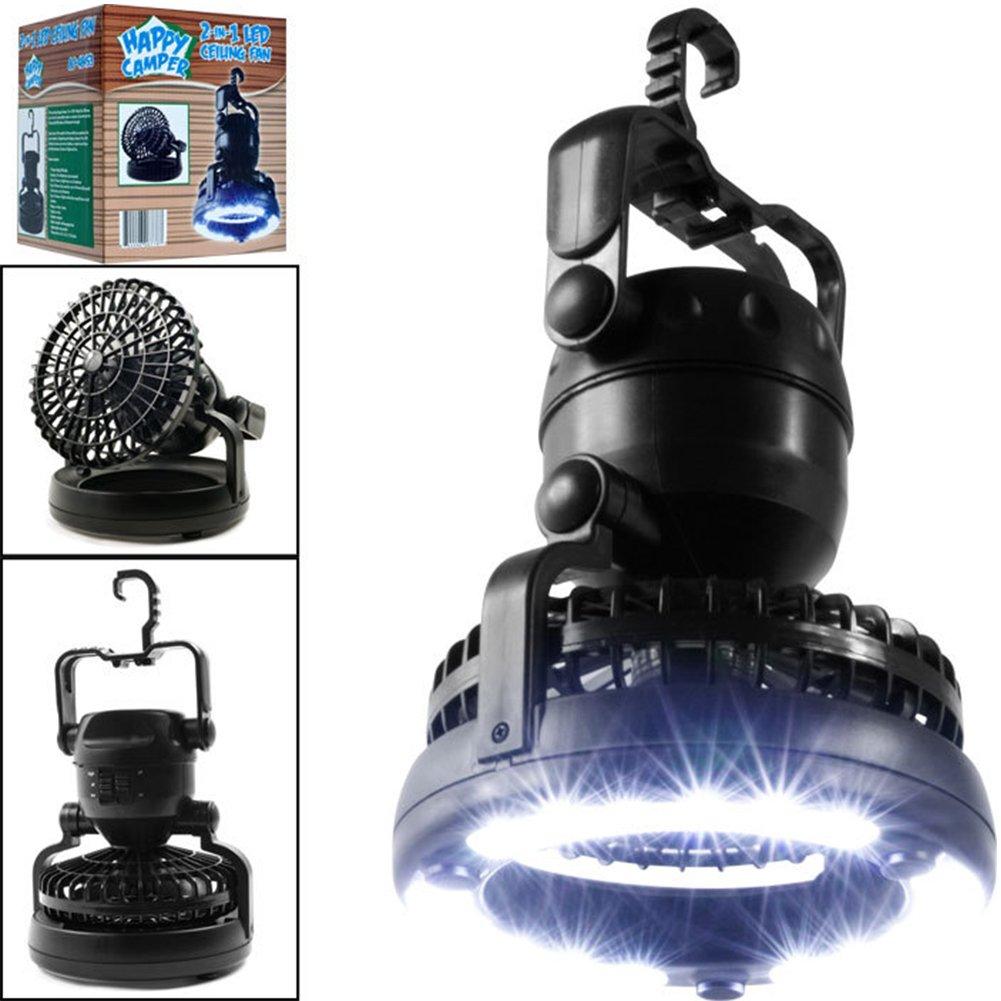 Linterna de camping LED interrupciones y emergencias tienda pesca luz de camping port/átil LED con ventilador de techo camping 18 LED linterna ventilador de techo para senderismo al aire libre
