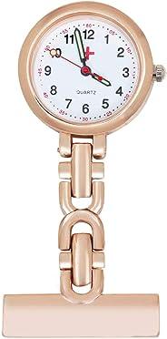 TRIXES Fob Watch - Nurses Fob Watch - Rose Gold Steel - Quartz Movement - Perfect for Medical Professionals - Doctors Vets an