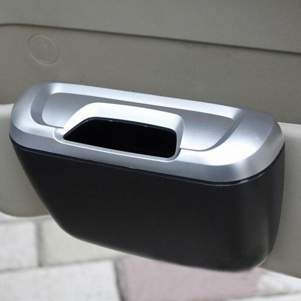 Silver Black WINOMO Car Garbage Trash Can Portable Mini Vehicle Trash Bin Universal