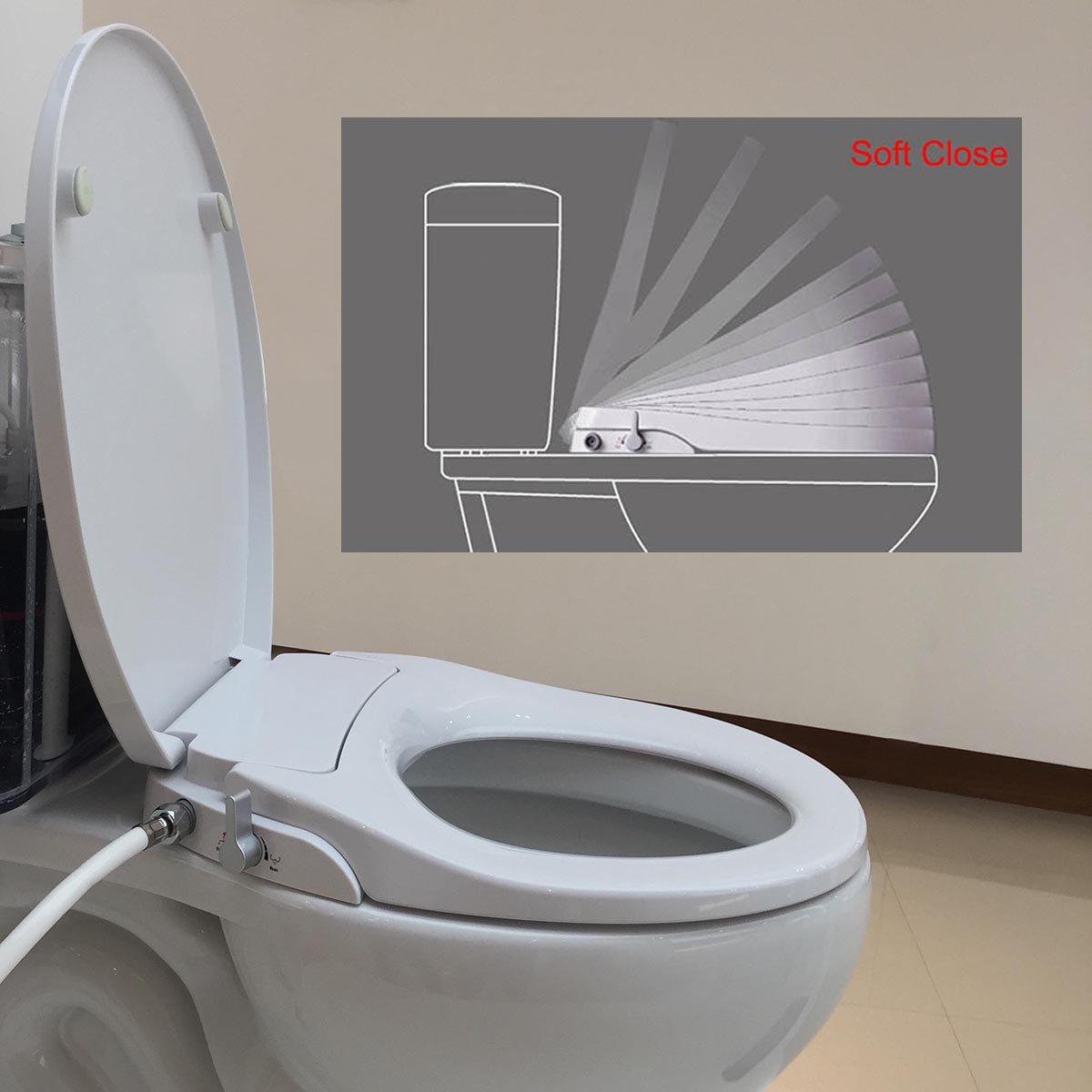 Hibbent WC Bidet Verbinder 1//2 ohne Strom Warmwasserfunktion,Intimreinigung mit Selbstreinigende D/üsen Wasserstrahl regulierbar Po Dusche und Lady-Dusche Cold//Hei/ß Water Bidet Dusch-WC