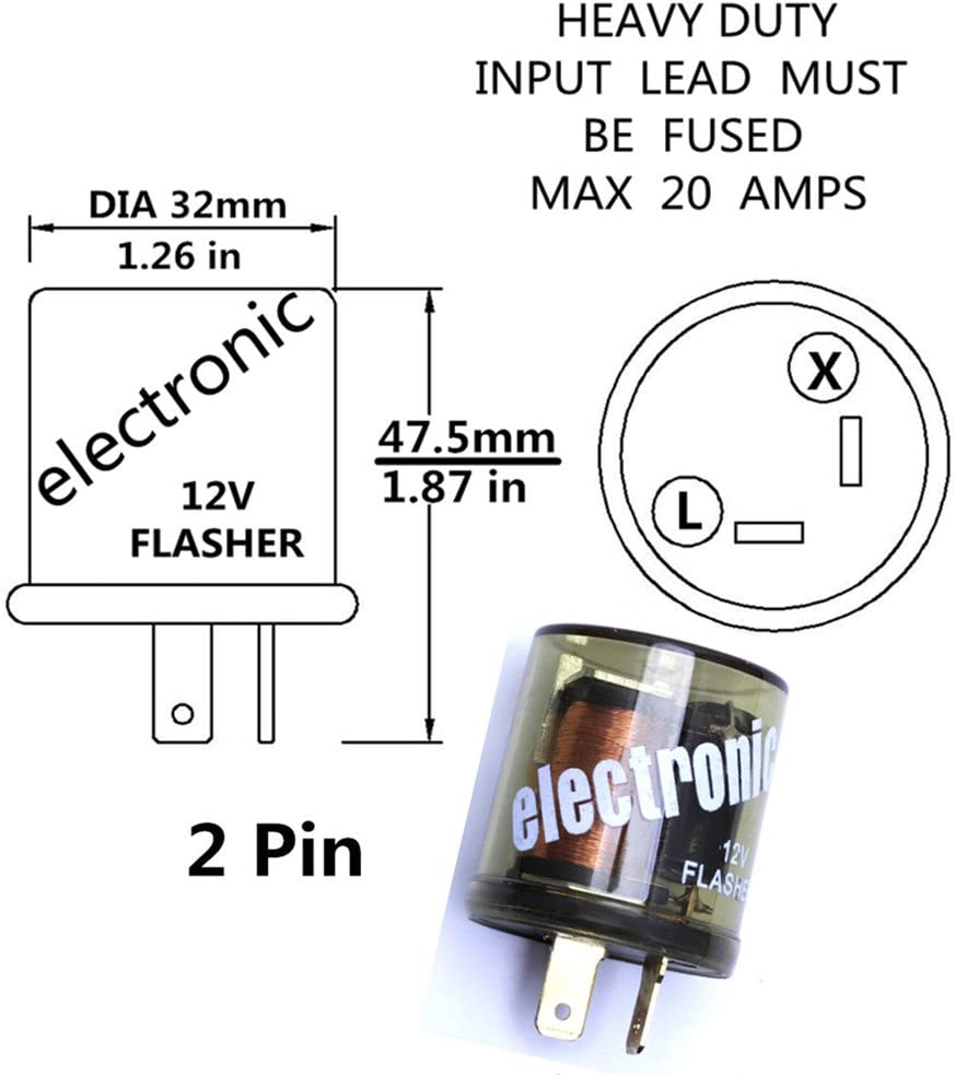 WOVELOT Flasher Relay Flash Relay 3 PIN Universal 12V for Motorcycle Car NEW