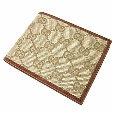 14968dafa644 Authentic Gucci Men's GG Monogram Canvas/Leather Wallet - Beige:  Amazon.co.uk: Shoes & Bags