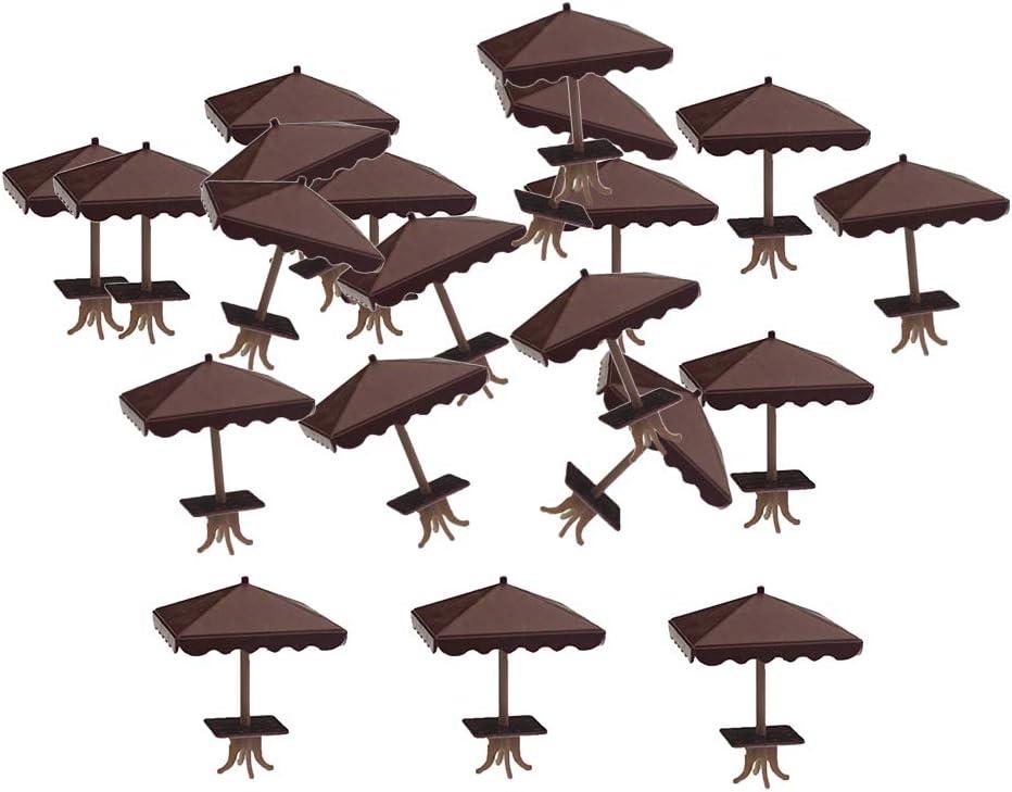 20 Pack Mini Four-Corner Sun Umbrellas Micro Outdoors Scene Accs Set Props