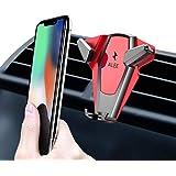 車載ホルダー スマホホルダー エアコン吹き出し口用 360°回転 片手操作 自由調節可能 車載 スマフォンホルダーiPhoneXS/iPhone XS MAX,/ iPhoneXR/iPhone X/8/7/7plus/6S/6Plus/5S、Galaxy S8/S7/S6/S5、HTC、LG、Huaweiなどに対応 カーホルダー