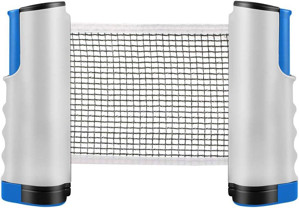 INTVN Tischtennisnetze Tischtennis Netze Beweglicher Reisehalter Justierbarer Einziehbares Netz Ping Pong Ersatznetz