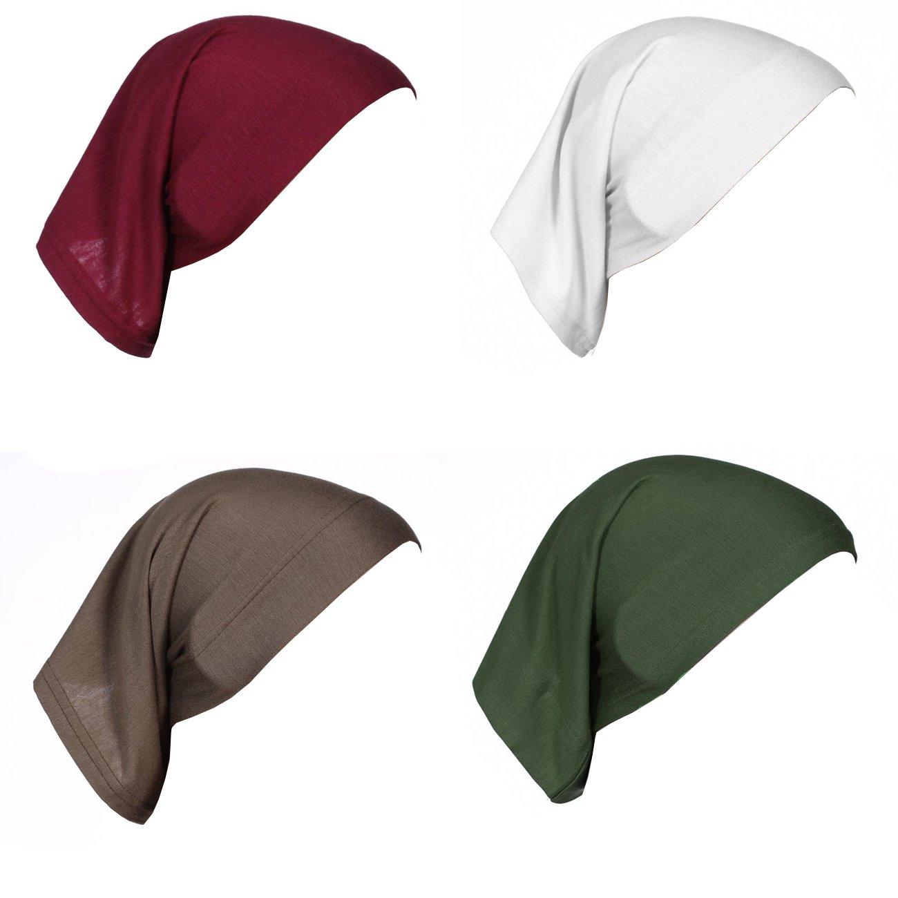 GladThink 4 X Frauen muslimischen Mini Inner Hijab Caps