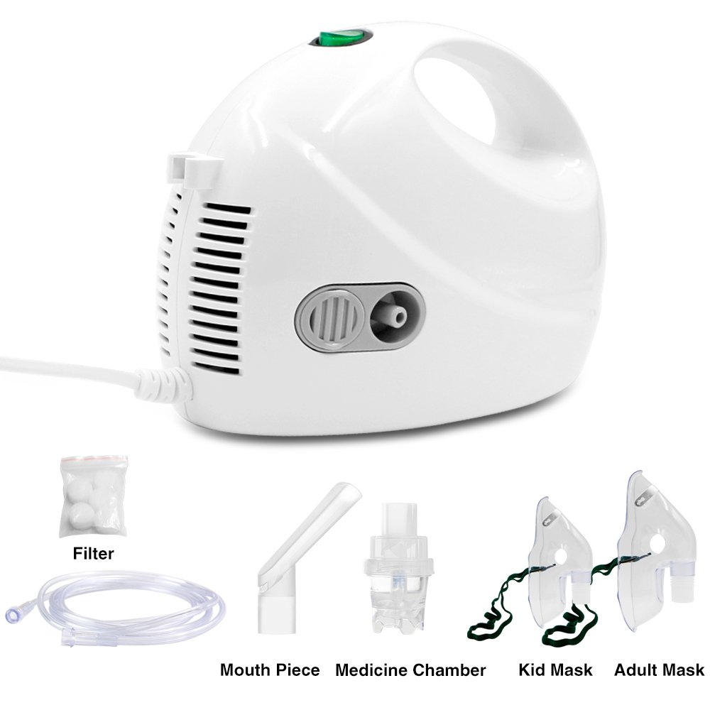 Portable Compressor System Personal Cool Mist Inhaler kit for Adults and Children