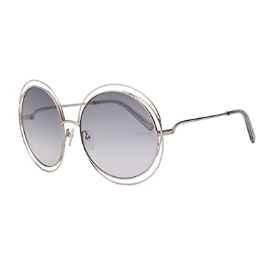 beddb42a711 Chloe CE114S-734 Ladies Carlina Gold Transparent Light Grey CE114S  Sunglasses at Amazon Women s Clothing store