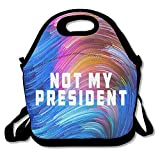 Oswald Carnegie Not My President Neoprene Lunch Bag Tote Reusable Insulated Waterproof School Picnic Carrying Gourmet Lunchbox Container Organizer For
