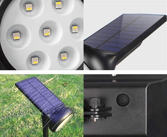 solaires Éclairage à DEL de Pelouse Jardin Projecteurs P8wOnk0X