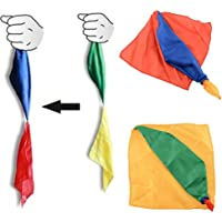 MAJGLGE Change Color Silk Scarf Magic Trick Joke Props Tools Magician Forniture Giocattoli – Colore Casuale