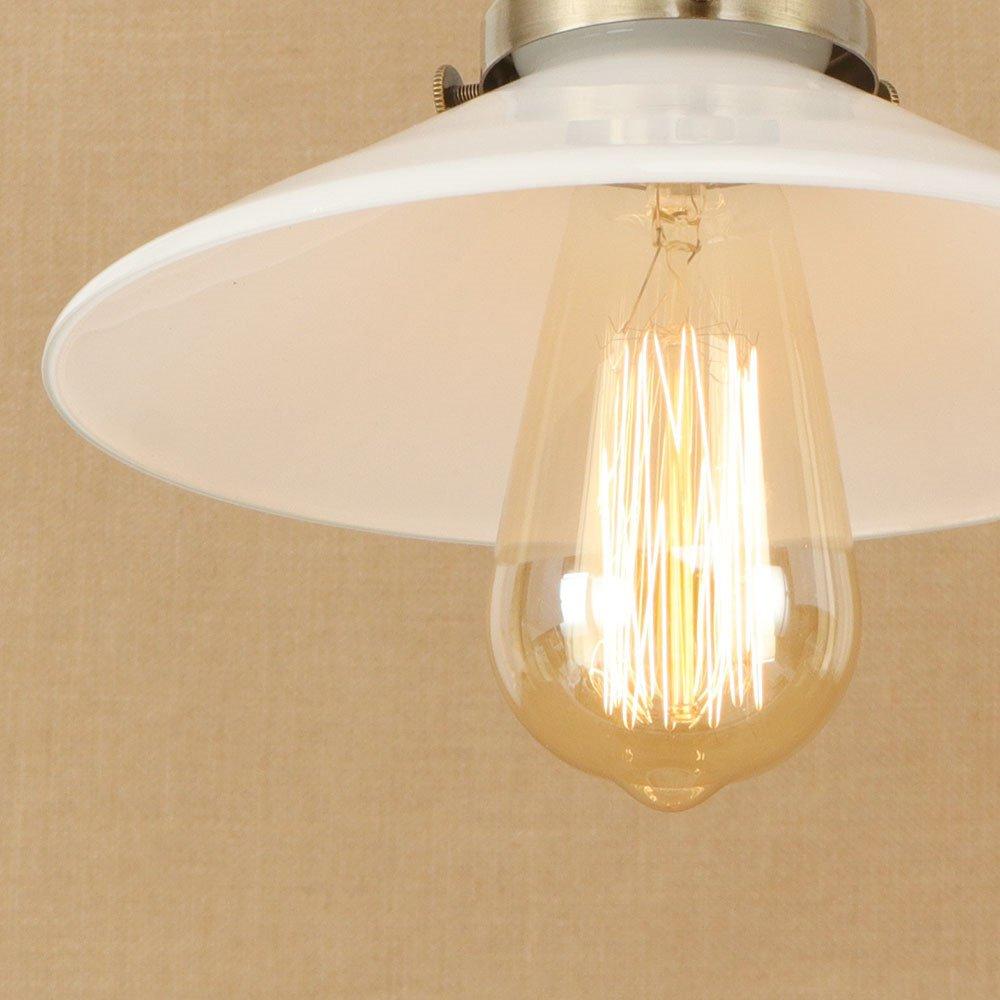 E27 bedeckt Brille Glas Lampenschirm Pendelleuchte hanging hell hintergrund leuchten leuchten leuchten licht Schlafraum Living Zimmer Badezimmer Cafe Bar Hotel Restaurant innen zuhause Dekor,A 8f2239