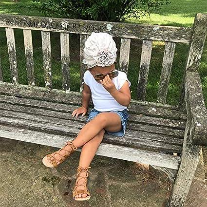 Lumsinker 5 piezas de moda lazo beb/é ni/ña sombrero turbante nudo beb/é diadema gorra de hospital sombrero